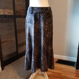 Black & Grey Winter-Weight Skirt